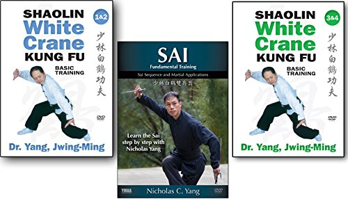 Bundle: Shaolin White Crane Kung Fu and Sai 3-DVD set (YMAA) Dr Yang, Jwing-Ming and Nicholas Yang