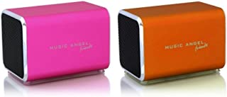 Music Angel Friendz Speaker Twin Pack Bundle for iPhone/iPad/iPod/Mp3/Laptop/Smartphone - Pink/Red