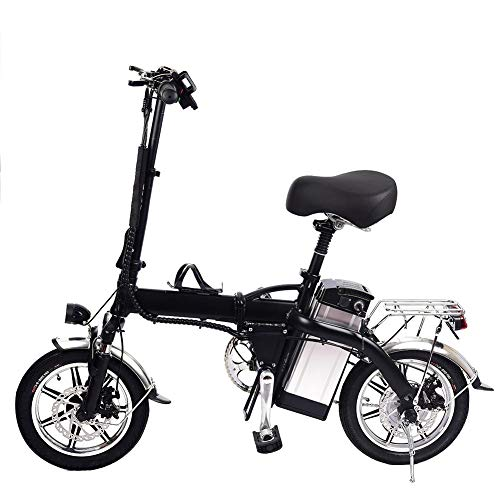 Lancei Elektrofahrrad Faltbares E-Bike Erwachsene Faltrad 14 Pulgadas Klapprad Pedelec Batería de Litio Bicicleta Velocidad Máxima 35 Km/H Elektrofahrräder
