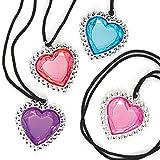 Baker Ross ET487 Heart Gem Necklaces - Pack of 6, Novelty Jewellery...