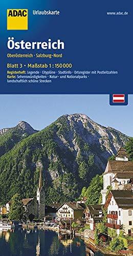 ADAC Urlaubskarte Oberösterreich, Salzburg Nord 1:150.000 (ADAC UrlaubsKarten Österreich 1:150.000)