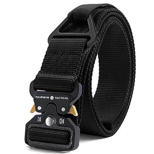 Review Fairwin Tactical Rigger Belt, Military Style 1.5 Inch Utility Nylon Webbing Belt with V-Ring ...