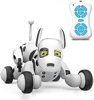 Aukfa ロボット犬のおもちゃ 子供のおもちゃ 電子ペット 子供ロボット 親子のおもちゃ 犬 動く おもちゃ 男の子 女の子 誕生日プレゼント スマートドッグトーキング おもちゃ3歳 4歳 5歳 6歳 7歳 8歳 9歳 10歳 (ホワイト)