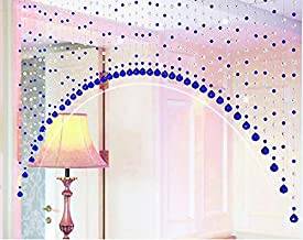 Pindia 10 String Fancy Sparkling Arch Bead Hanging Curtain with Pure Glass Drops - Blue