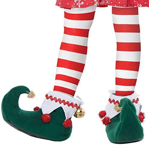 California Costumes unisex adult Elf Shoes - Sized Costumes, Green/White, Medium US