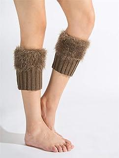 レッグウォーマー くしゅくしゅ フェイクファー レディース ぬいぐるみ 美脚 足首カバー 防寒対策に 通学 通勤