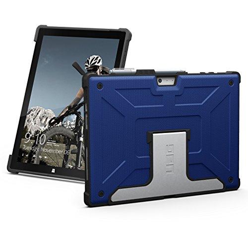 Urban Armor Gear Metropolis für Microsoft Surface Pro 7 / Pro 7+ / Pro 6 / 5 / 4 (Microsoft zertifizierte Schutzhülle, Type-Cover kompatibel, Microsoft Surface Pen Halterung, Standfunktion) - blau