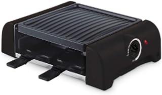 Ohmex OHM-RCL-4444 - Raclette pour 4 Personnes - 700 Watts - Revêtement Anti-Adhésif - 4 Poêles à Griller en Acier - R...