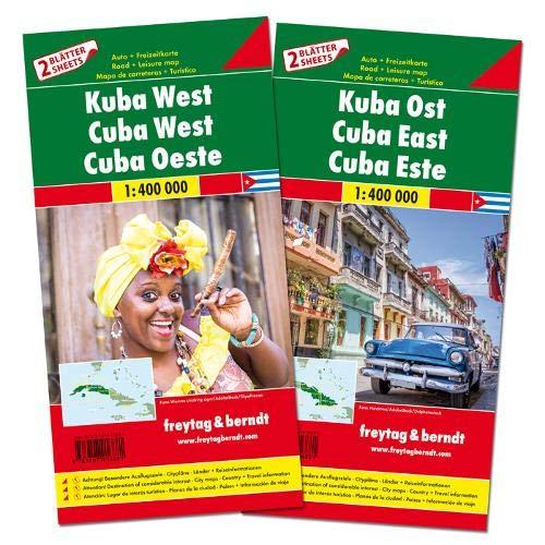F&B Cuba West en Oost, set 2 kaarten: Set wegenkaarten 1:150 000