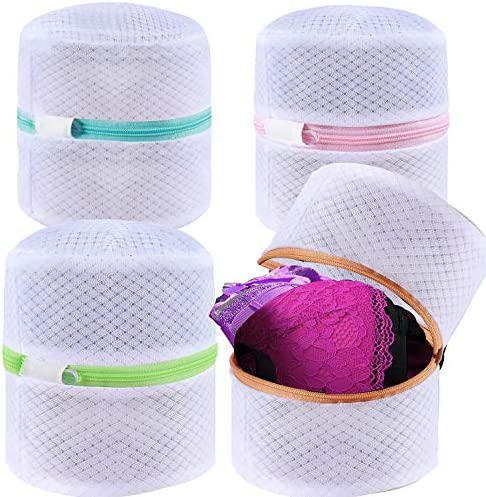 BAGAIL Set of 4 Mesh Bra Wash Bags with Premium Zipper Travel Laundry Bag for Intimates Lingerie product image