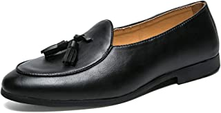 AiHua Huang Driving Loafers for Men Classic Dress Moccasins Boat Shoes Slip on Microfiber Leather Leisure Soft Breathable (Color : Black, Size : 6.5 UK)
