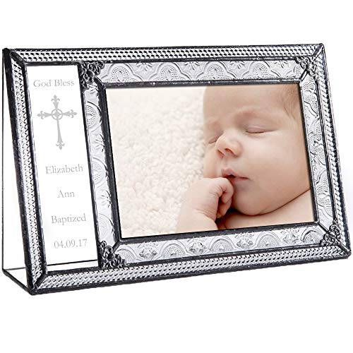Personalized Baptism Picture Frame 4x6 Photo Engraved Clear Glass Christening Gift J Devlin Pic 393-46H EP590