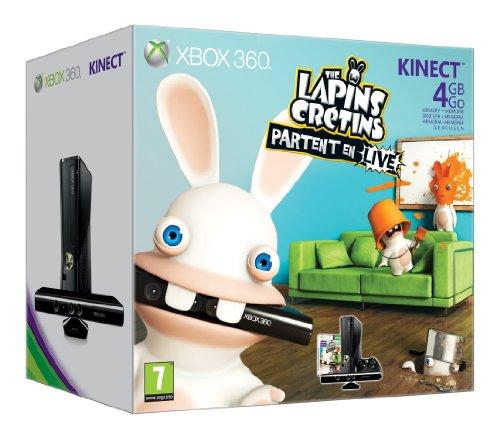 Console Xbox 360 4 Go + Kinect + Les lapins crétins : partent en live