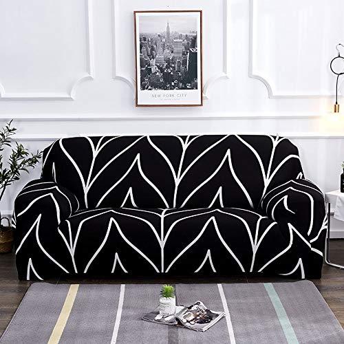 Funda de sofá elástica Floral de algodón elástico Todo Incluido Silla Funda de sofá de Esquina Fundas de sofá para Sala de Estar Mascotas A19 3 plazas