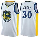 Oxyco Jersey de Hombre Stephen Curry Golden State Warriors # 30 Uniforme de Baloncesto Malla Jersey Juventud City Edition Jersey Top Deportivo de Manga Corta Swingman Jersey (Blanco, L(50))