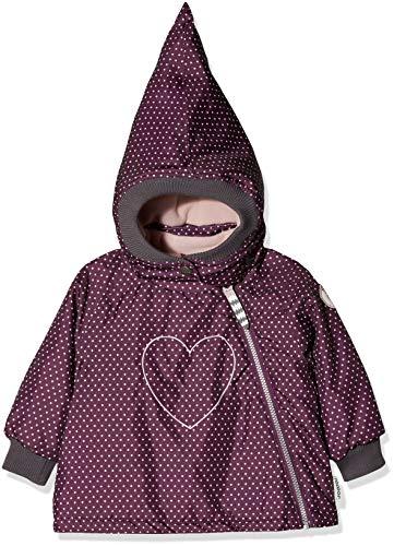 Racoon Baby-Mädchen Saga dot Winterjacke (Wassersäule 9.000) Jacke, Mehrfarbig (Dark Purple DAR), 98