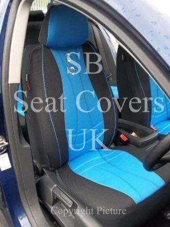 R – Apto para SUBARU WRX STI coche, fundas de asiento, Rossini Max Sports azul, juego completo