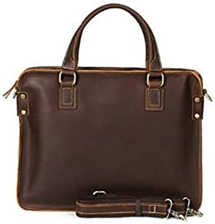 Mens Bag Baotou Leather Briefcase Leather Shoulder Slung Handbag Men's High capacity