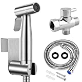 Handheld Bidet Toilet Sprayer, Stainless Steel Bathroom Personal Hygiene Bidet Sprayer Set, Baby Cloth Diaper Sprayer with Adjustable Pressure Control, Perfect for Family Use