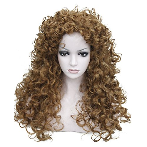 Aimole Synthetic Heat Resistant Hair Long Curly Wigs Cosplay Women Wig(27-Strawberry Blonde)