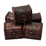 GUO Caja de joyería de almacenamiento de joyería vintage de madera joyería exhibición estante de almacenamiento Anhängerbox 1 pieza Color al azar