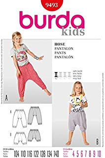 Burda Childrens Easy Sewing Pattern 9493 Harem Pants