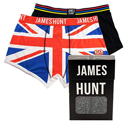 MBA-SPORT James Hunt Boxershorts Helmet + Union Jack Doppelpack (S/M)