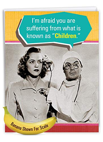 NobleWorks - Jumbo Happy Mother's Day Card (8.5 x 11 Inch) - Retro, Vintage Greeting Card for Mom - Suffering from Children J0209 Photo #7