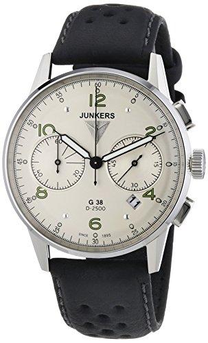 Junkers Herren-Armbanduhr XL G 38 Chronograph Quarz Leder 69844