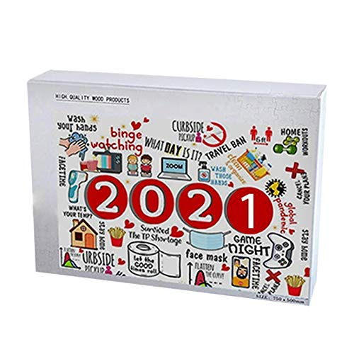 lzndeal Puzzles for Adults 1000/500 Piece 2021 Jigsaw Puzzle 500/1000 Piece Christmas Jigsaw to 2021 Wooden Jigsaw Puzzle Adult Children Toys