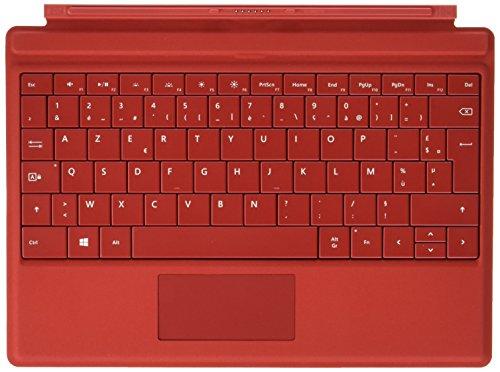 Microsoft A7Z-00019 Type Cover Tastatur, für Surface Pro 3 rot