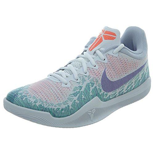 Nike Men's Mamba Rage Basketball Shoes White/Hyper Grape/Green Glow Size 9 M US