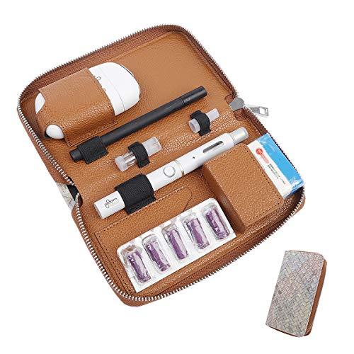 PloomTECH Plus ケース 電子タバコ ケース 織柄 Ploom S 収納ケース 防水 大容量 スリム プルームテックプラス 全部収納 コンパクト ケース 撥水性 衛生 電子タバコ 財布型