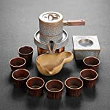 GAXQFEI Conjunto de Té Tetera Hecho a Mano Púrpura Clay Tea Pot Set, Zisha Ceramic Chinese Tea Ceremonia Regalo