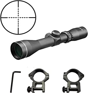 Persei 2-7x42 Long Eye Relief Scope Mil-dot Reticle 30mm Tube Diameter Fits Mosin Nagant 1891/30 M39 with Mount Rings