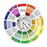 Gazechimp - Círculo cromático de colores para guía, 23,5 cm