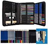 Matite 71pcs da colorare, matite Disegno Schizzo/Charcoal/Graphite/Acquarello/Metallic/matita colorata for Sketch Pittura colorazione professionale Set