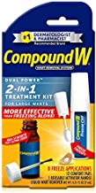Compound W 2-in-1 Treatment Kit for Large Warts, Freeze Off & Liquid Wart Remover