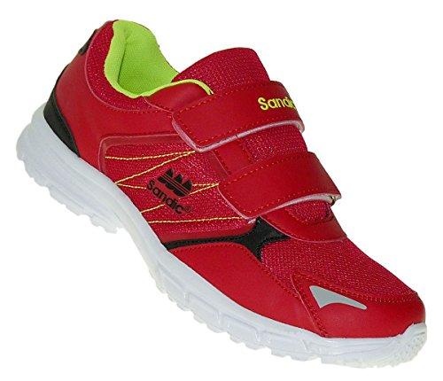 Bootsland Klett Herren Turnschuhe Sneaker Sportschuhe Freizeitschuhe 027, Schuhgröße:46, Farbe:Rot