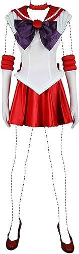 productos creativos Holysteed Sailor Moon Cosplay Costume Costume Costume Sailor Mars Rei Hino Costume Set Medium  forma única