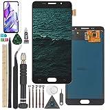 RongZy para Samsung Galaxy A5 2016 LCD Pantalla y Digitalizador y para A510F Pantalla Táctil con Herramientas (Negro)