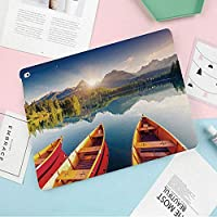 カスタムiPad mini 4 ケース (iPad mini 5 2019モデル非対応) 2つ折スタンド オートスリープ機能スロバキア国立公園の山の湖ヨットヨーロッパのエコロジー自然