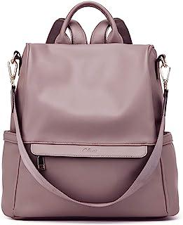 CLUCI Rucksack Damen Leder Mode Diebstahlsicherer Reiserucksack Schultertasche für Frauen 2 in 1 Violett
