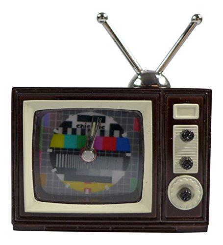 Reloj Miniatura–Televisor. TV CA 7x 6x 2,5cm–Vintage Reloj–coleccionistas Relojes con estuche