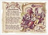 Die Staffelei Geschenk Karte Berufsbild Autowerkstatt Kfz Mechaniker Mechatroniker Zeichnung mit Gedicht, 30 x 21 cm -