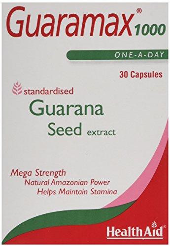 HealthAid Guaramax 1000 - Guarana - 30 Capsules