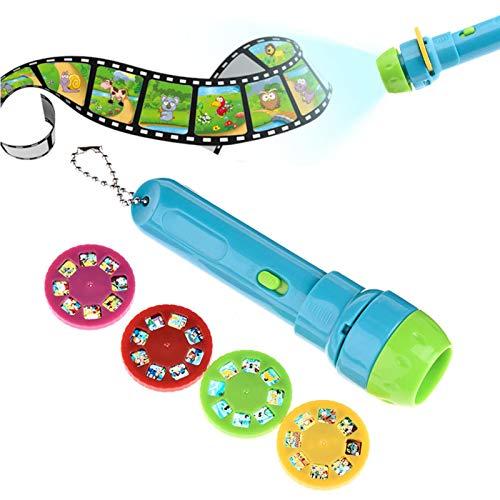 Projektor Taschenlampe Kinder Geschichte Projektor Mit 4 Themen 32 Folien Projektionslampe Leuchtendes Spielzeug Kinder Schlafen Geschichte Projektion Fackel Pädagogische Spielzeug Für Kleinkinder