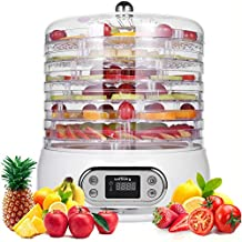 Food Dehydrator,6 Tray Dehydrator for Food/Beef Jerky/Meat/Fruit/Dog Treats/Herbs/Vegetable, 400W Food Fruit Dehydrator with Digital Timer&Temperature Control, Herb Jerky Food Dehydrator BPA Free