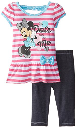 Disney Girls' Two-Piece Minnie Mouse Dots Are So Me Tunic And Legging Set