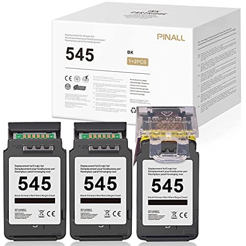 PINALL 545XL Compatibile con cartuccia d'inchiostro Canon 545XL per Canon PIXMA TS3150 TS3151 MX495 IP2850 MG2950 MG2450 MG2550 MX490 (3 Nero)